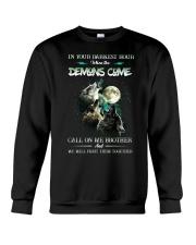 Wolf In Your Darknest Hour Crewneck Sweatshirt thumbnail