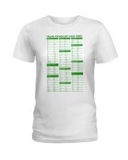 Italian Vocabulary Cheat Sheet pt lqt-pml Ladies T-Shirt tile