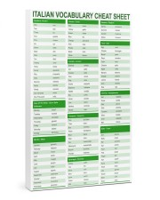Italian Vocabulary Cheat Sheet pt lqt-pml 24x36 Gallery Wrapped Canvas Prints front