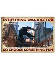 choose fun parkour  17x11 Poster front