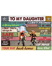 To my daughter motorcycle dvhd-nna 17x11 Poster front