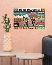 To my daughter motorcycle dvhd-nna 17x11 Poster poster-landscape-17x11-lifestyle-21