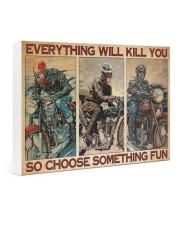 Motocycles choose fun dvhd-ntv Gallery Wrapped Canvas Prints tile