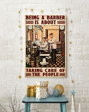 Barber taking care 24x36 Poster lifestyle-holiday-poster-3