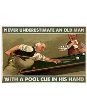 Carom billiard old man pt dvhh-ntv 36x24 Poster front