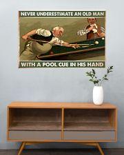 Carom billiard old man pt dvhh-ntv 36x24 Poster poster-landscape-36x24-lifestyle-21