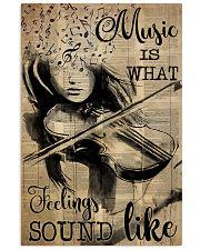 Violin music feeling dvhd-pml 16x24 Poster front