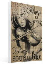Violin music feeling dvhd-pml Gallery Wrapped Canvas Prints tile