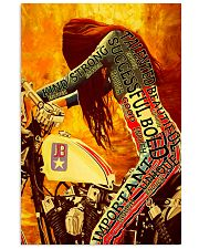 Bike girl enough 11x17 Poster front
