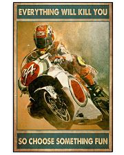 Choose fun sportbike 11x17 Poster front