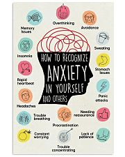 Anxiety Recognize 24x36 Poster front