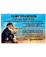 sea captain sailor to my grandson poster ttb nth 24x16 Poster front