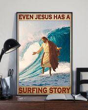 Jesus surfing pml 11x17 Poster lifestyle-poster-2