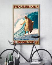 Jesus surfing pml 11x17 Poster lifestyle-poster-7