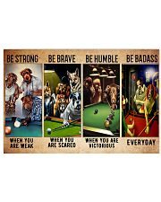 Billiard dogs be brave be strong pt dvhh ntv 36x24 Poster front