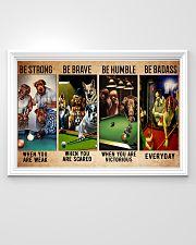 Billiard dogs be brave be strong pt dvhh ntv 36x24 Poster poster-landscape-36x24-lifestyle-02