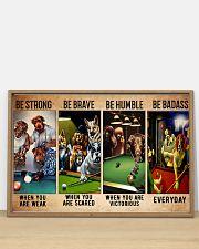 Billiard dogs be brave be strong pt dvhh ntv 36x24 Poster poster-landscape-36x24-lifestyle-03