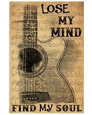 Acoustic guitar lose my mind find soul dvhh pml 11x17 Poster front