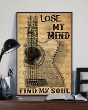 Acoustic guitar lose my mind find soul dvhh pml 11x17 Poster lifestyle-poster-2