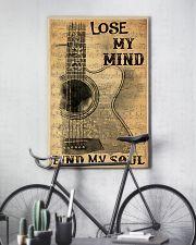 Acoustic guitar lose my mind find soul dvhh pml 11x17 Poster lifestyle-poster-7