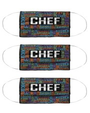 Chef Typo mas Cloth Face Mask - 3 Pack front