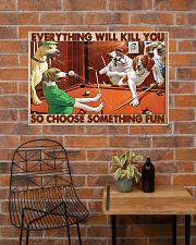Pool choose fun 36x24 Poster poster-landscape-36x24-lifestyle-20