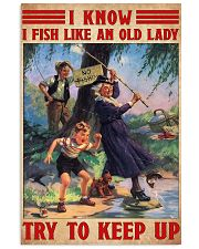 fishing old lady 11x17 Poster front