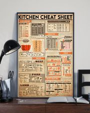 Kitchen cheat sheet 24x36 Poster lifestyle-poster-2
