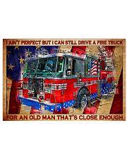 firefighter firetruck old man pt lqt-nth 36x24 Poster front