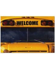 """school-bus-front-mat-dvhd-nna Doormat 34"""" x 23"""" front"""
