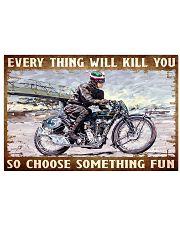 choose fun velo 17x11 Poster front
