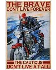 brave cautious biker dvhd ntv 11x17 Poster front