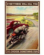 motocycle car race choosefun dvhd dqh 11x17 Poster front