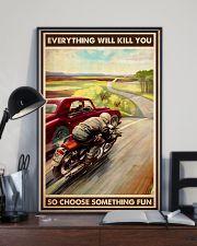 motocycle car race choosefun dvhd dqh 11x17 Poster lifestyle-poster-2
