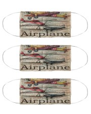 Plane text mas dvhd-ntv Cloth Face Mask - 3 Pack front