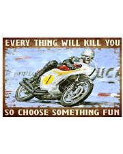 choose fun hond  17x11 Poster front
