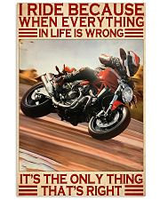 dicat I ride because everything pt lqt ntv  11x17 Poster front