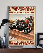 dicat I ride because everything pt lqt ntv  11x17 Poster lifestyle-poster-2