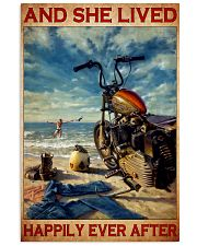 She lived motorcycle dvhd 11x17 Poster front