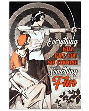 Archery choose fun 11x17 Poster front