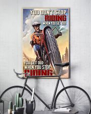 Get old riding dvhd-cva 11x17 Poster lifestyle-poster-7