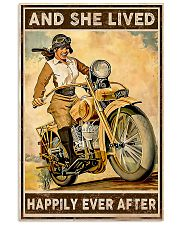 Motorcycle and she live happily ever after poster 11x17 Poster front