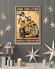 Motorcycle and she live happily ever after poster 11x17 Poster lifestyle-holiday-poster-1