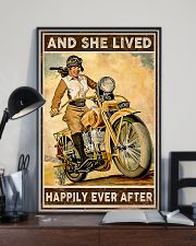 Motorcycle and she live happily ever after poster 11x17 Poster lifestyle-poster-2