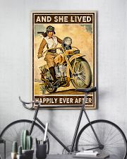 Motorcycle and she live happily ever after poster 11x17 Poster lifestyle-poster-7