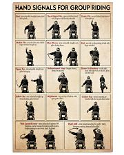 Motorcycle hand signal 11x17 Poster front
