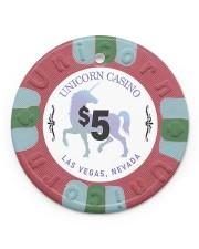 DA VNCI Unicorn chips ornaments ttb-ntv 6 Circle Ornament (Porcelain) tile