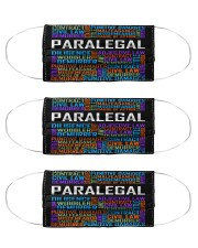 Paralegal typo mas Cloth Face Mask - 3 Pack front