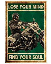 Lose you mind find your soul biker poster 11x17 Poster front