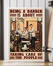 Barber taking care 24x36 Poster lifestyle-poster-4